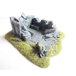 Javis Countryside Scenic Terain Ruined Outhouse No 1 RB40 Wargame Railway Modelling